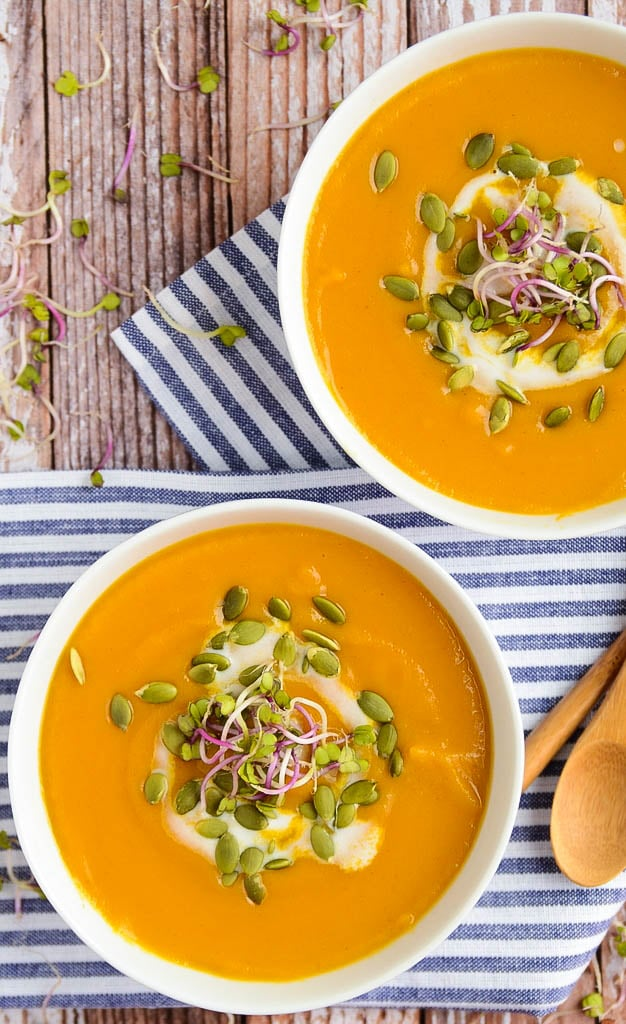 Butternut Squash Sweet Potato Soup