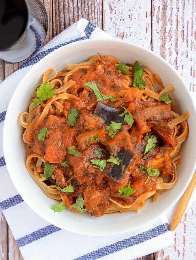 Simple Eggplant + Tomato Sauce