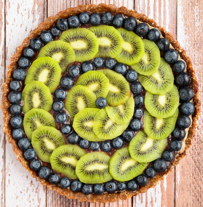 Raw Blueberry Kiwi Tart