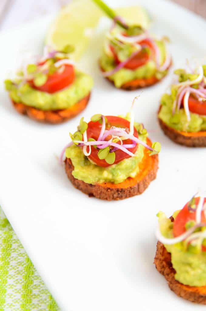 Sweet Potato + Avocado Bites