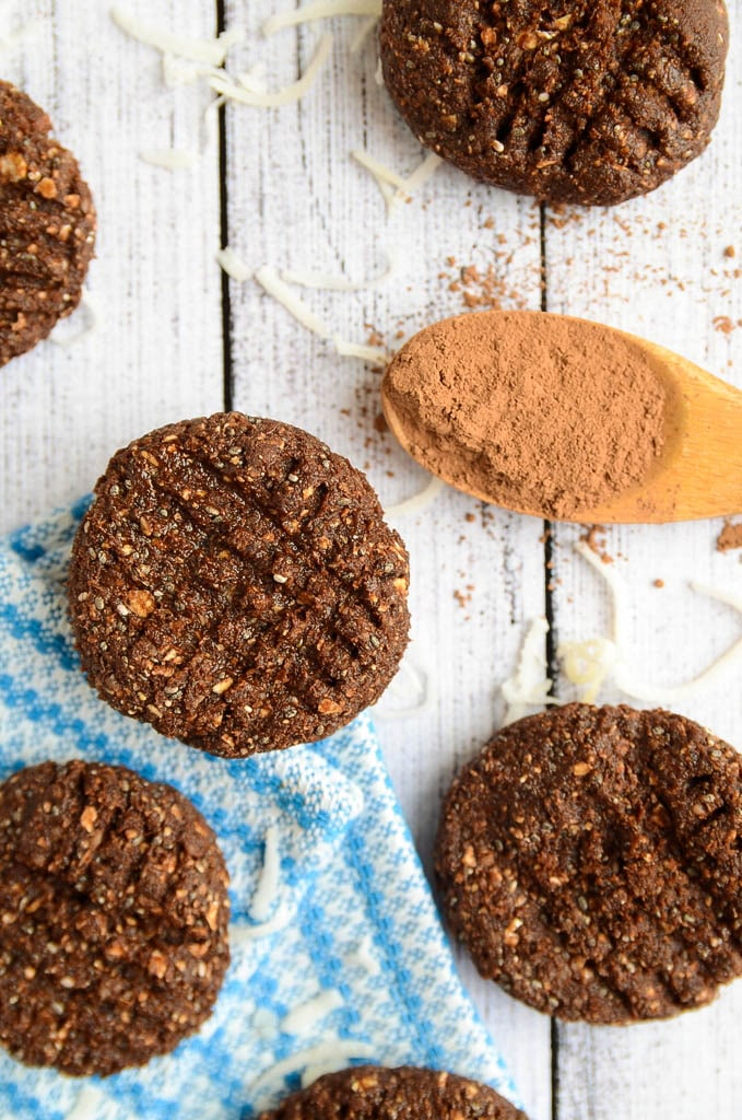 Chocolate and Coconut Energy Cookies