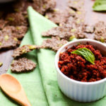 Crunchy Flax & Pepita Crackers with Sundried Tomato Spread | Vegan and Gluten-Free