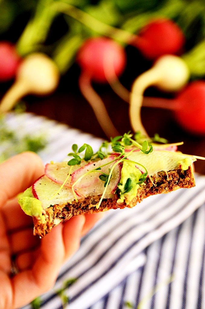 Avocado and Radish Toast