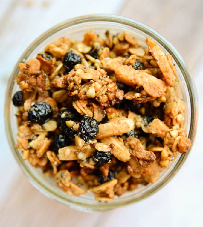 Blueberry and Buckwheat Granola
