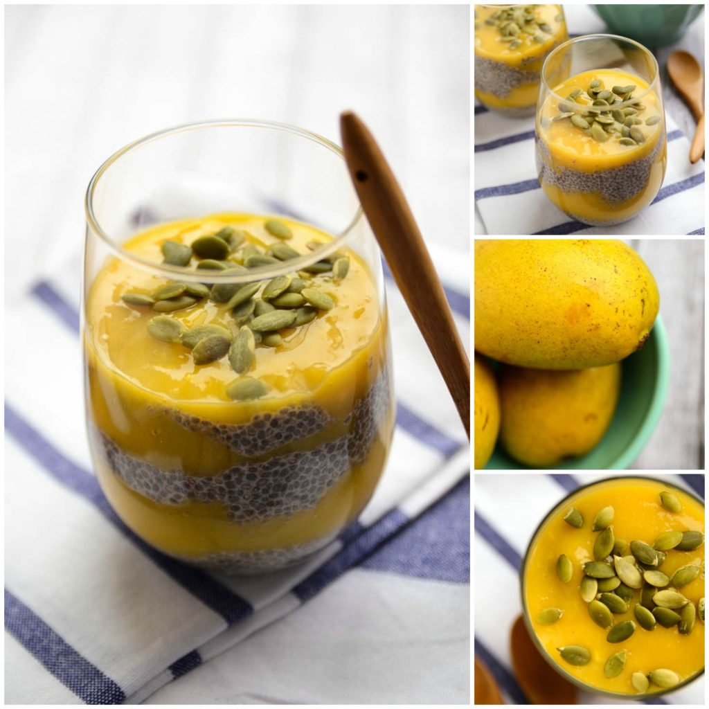Mango Chia Pudding Collage