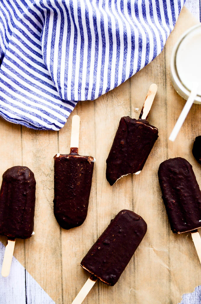 Chocolate-Covered Ice Cream Bars | vegan, paleo, gluten-free