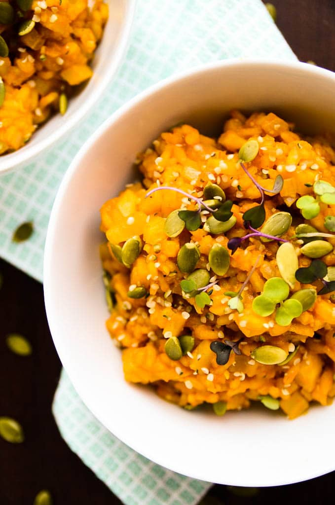 Golden Beetroot Risotto Vegan Gluten Free