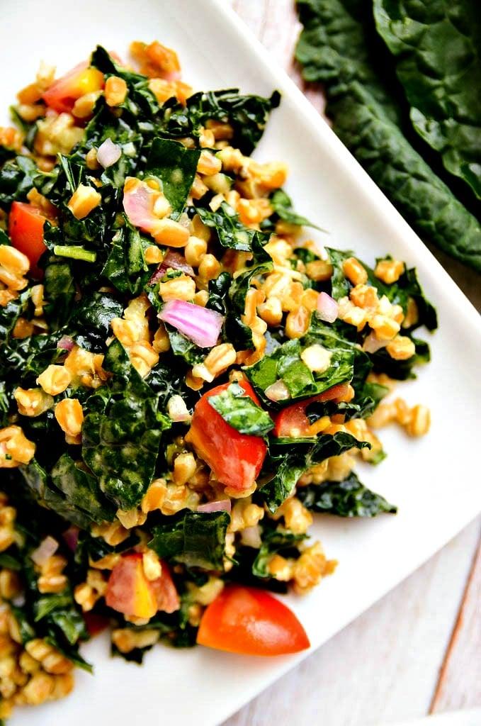 Mushroom and Farro Detox Salad