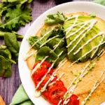 Savory Lentil + Quinoa Protein Pancakes