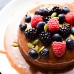 Caramel & Vanilla Cheesecake with Fresh Berries | Vegan, Gluten-Free & Paleo