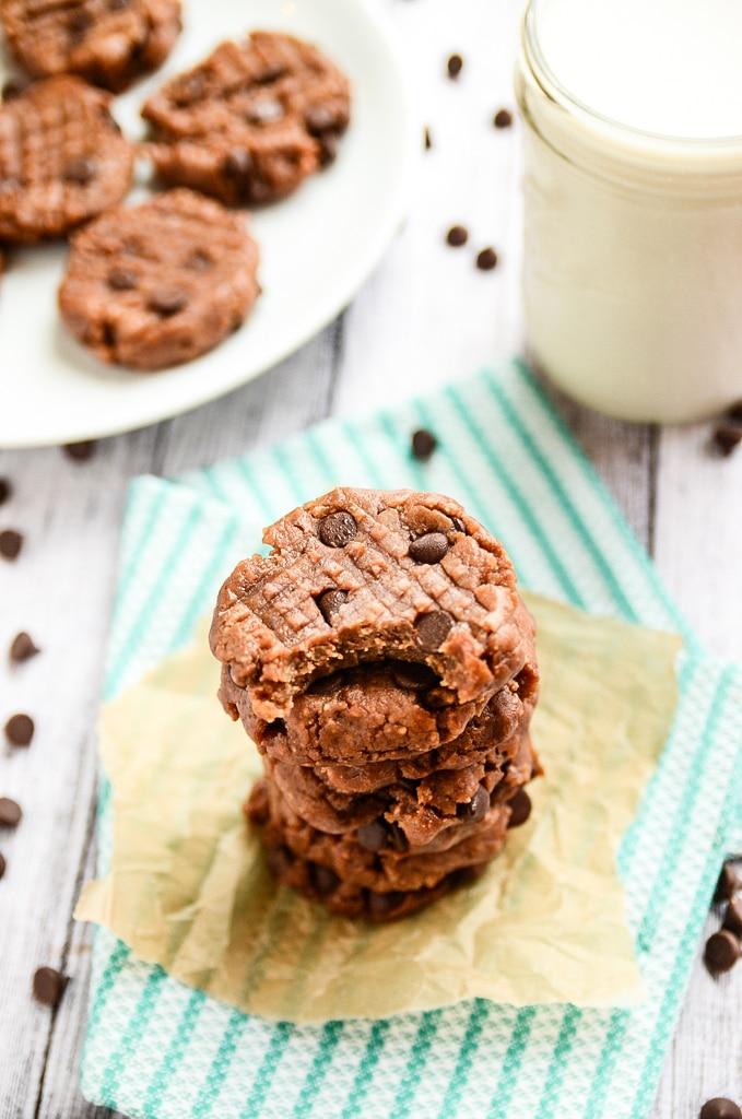 Vegan Chocolate Chip No-Bake Freezer Cookies