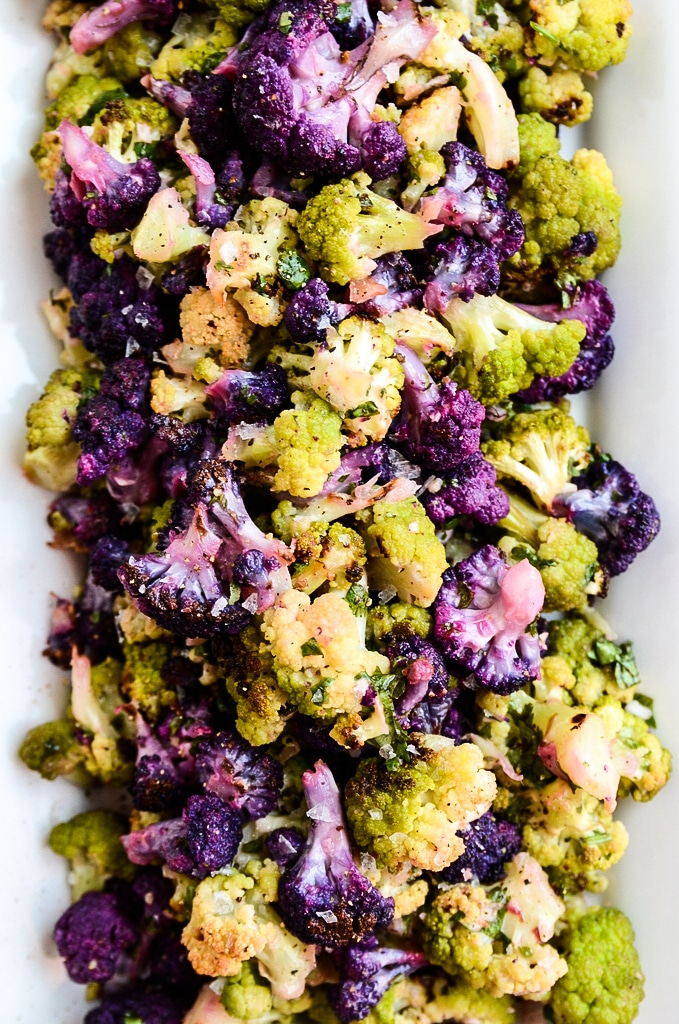 Roasted Cauliflower Salad with Tahini-Cilantro Vinaigrette