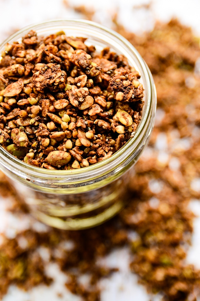Crunchy Chocolate & Almond Butter Buckwheat Granola