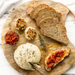 Herbed Vegan Cashew Cheese & Spicy Tomato Jam