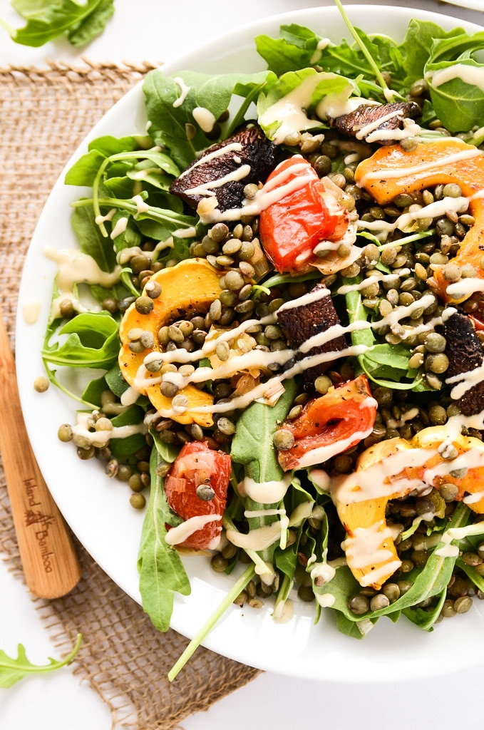French Lentil and Roasted Vegetable Salad