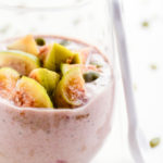 Rhubarb Buckwheat Porridge with Green Figs