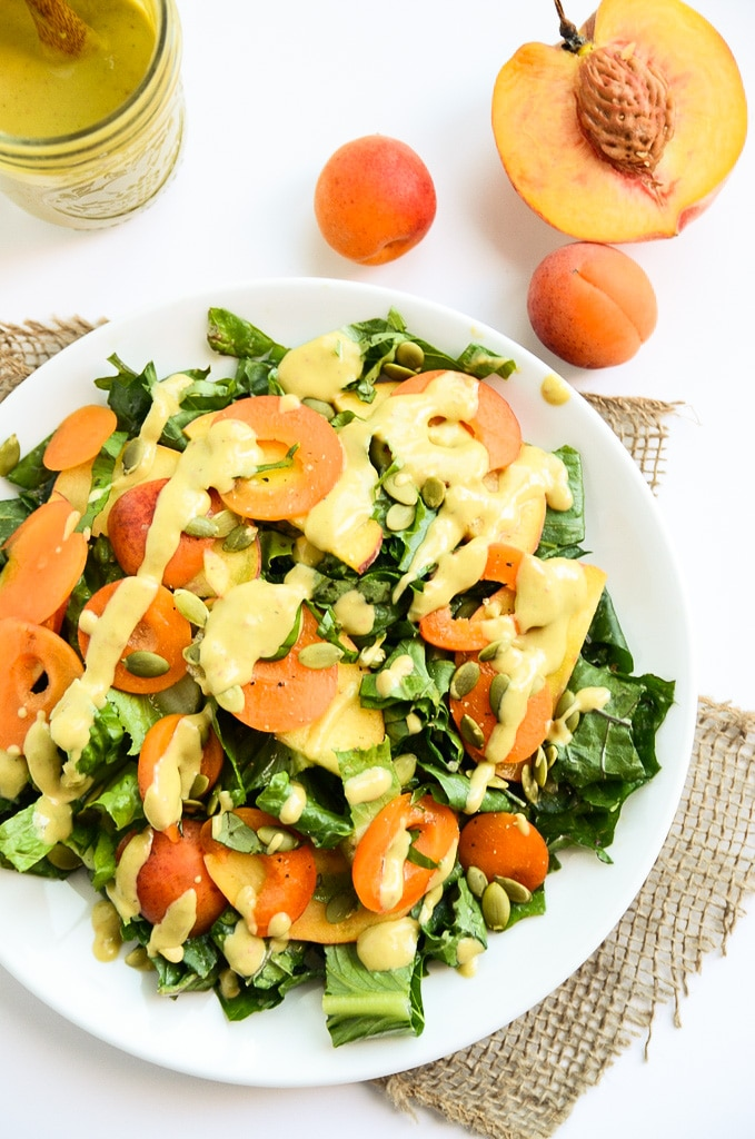 Kale and Stone Fruit Salad
