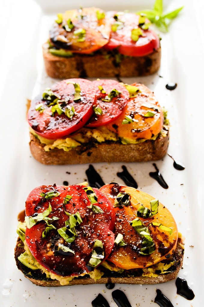 Avocado and Heirloom Tomato Toast with Balsamic