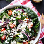 Detoxifying Greek Salad with Kale & Cauliflower Feta