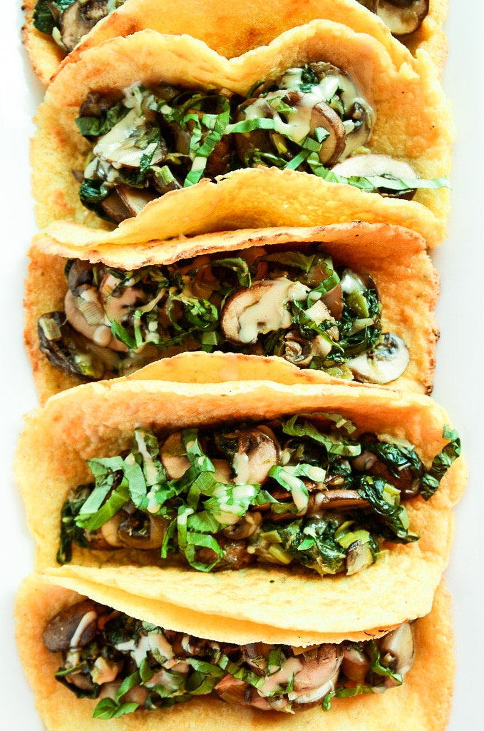Vegan Breakfast Tacos with Warm Mushroom Filling