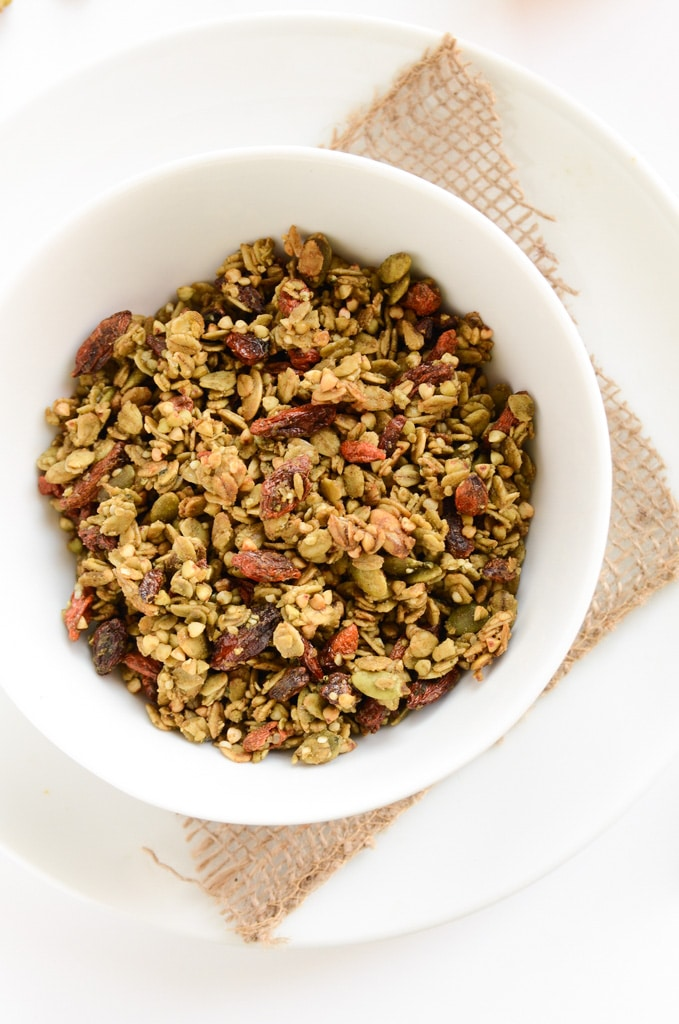 Matcha Green Tea, Buckwheat & Goji Granola