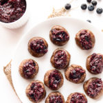Raw Blueberry Chia Jam Thumbprint Cookies