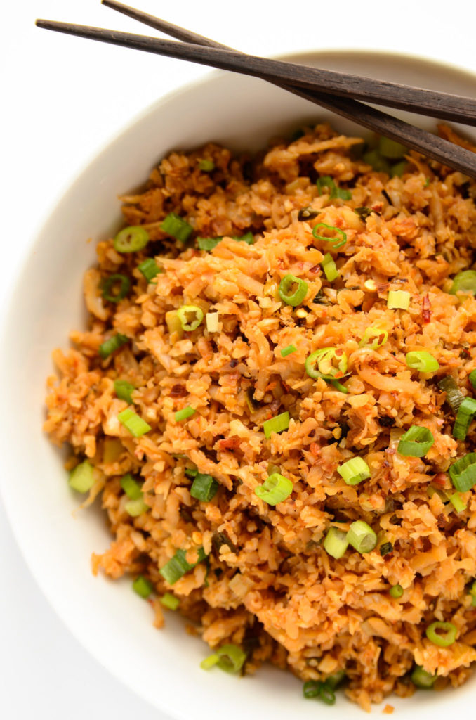 Chili Garlic Cauliflower Fried Rice