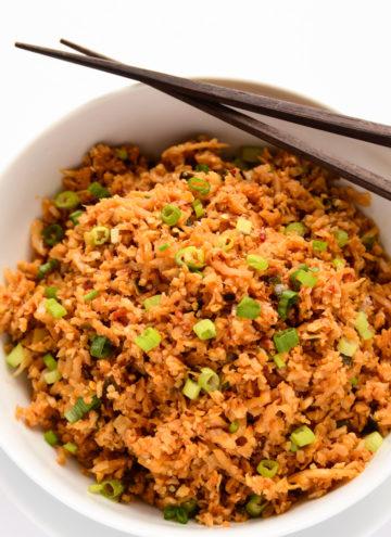 Chili Garlic Cauliflower Fried Rice