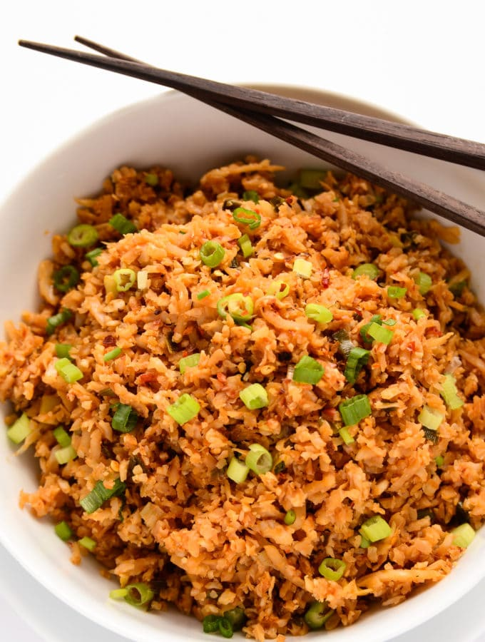Chili-Garlic Cauliflower Fried Rice