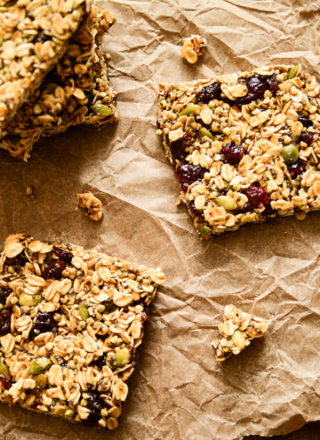 Pumpkin and Cranberry Granola Bars