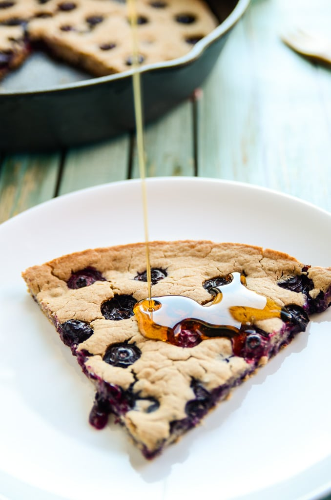 Giant Blueberry Skillet Pancake