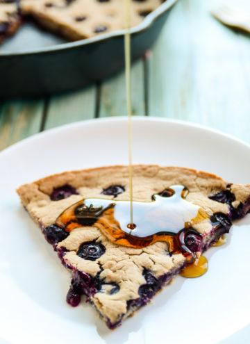 Giant Blueberry Skillet Pancake
