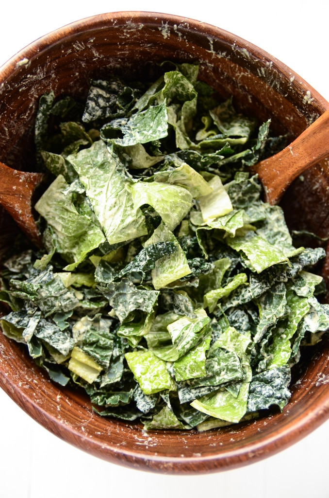 Holiday Caesar Salad with Hemp Seed Dressing | vegan, gluten-free
