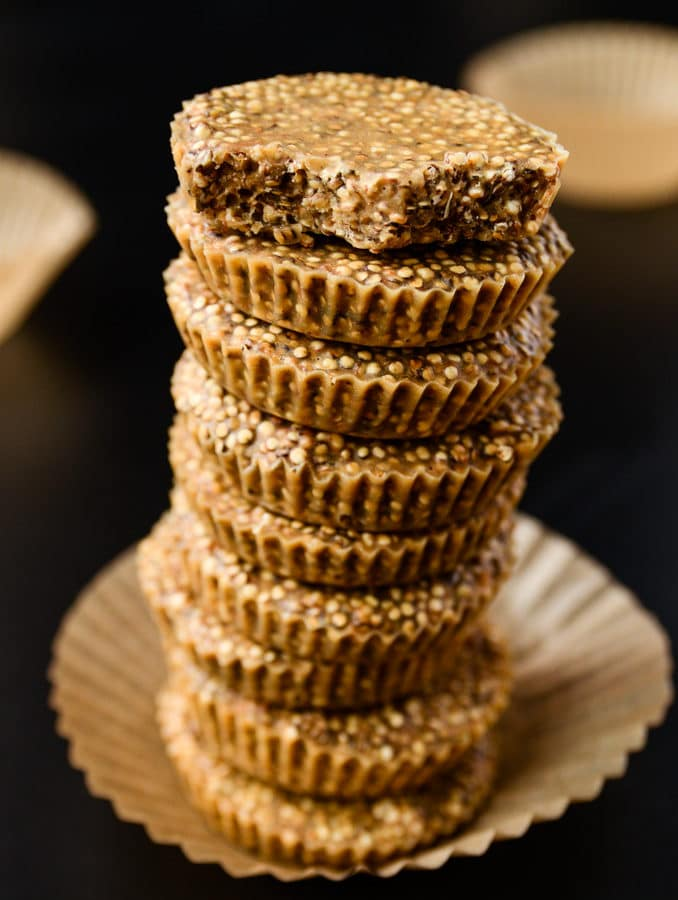 6-Ingredient No-Bake Quinoa Peanut Butter Crunch Cups