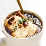 Vegan French Onion Soup with Homemade Mozzarella