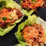 BBQ Lentil Lettuce Wraps with Tangy Slaw (vegan, gf)