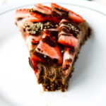 Triple-Chocolate & Strawberry Cheesecake (vegan, gf)