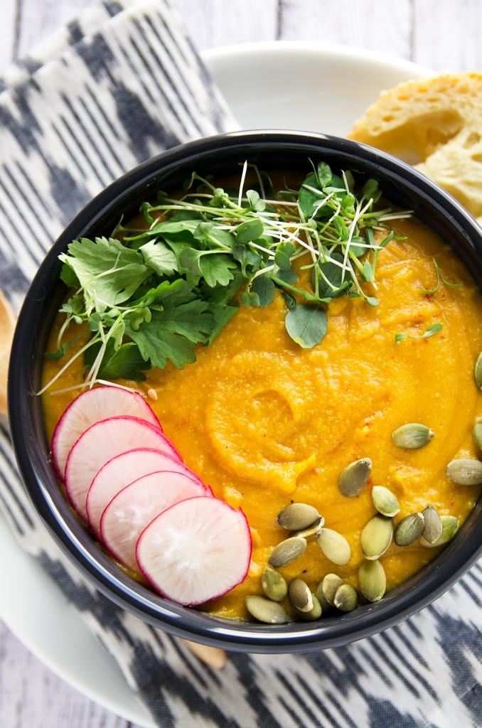 Warming Yellow Split Pea Soup - Blissful Basil