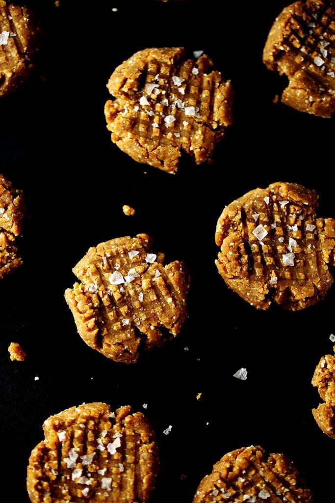 No-Bake Peanut Butter Cookies | vegan, gluten-free, grain-free, sugar-free