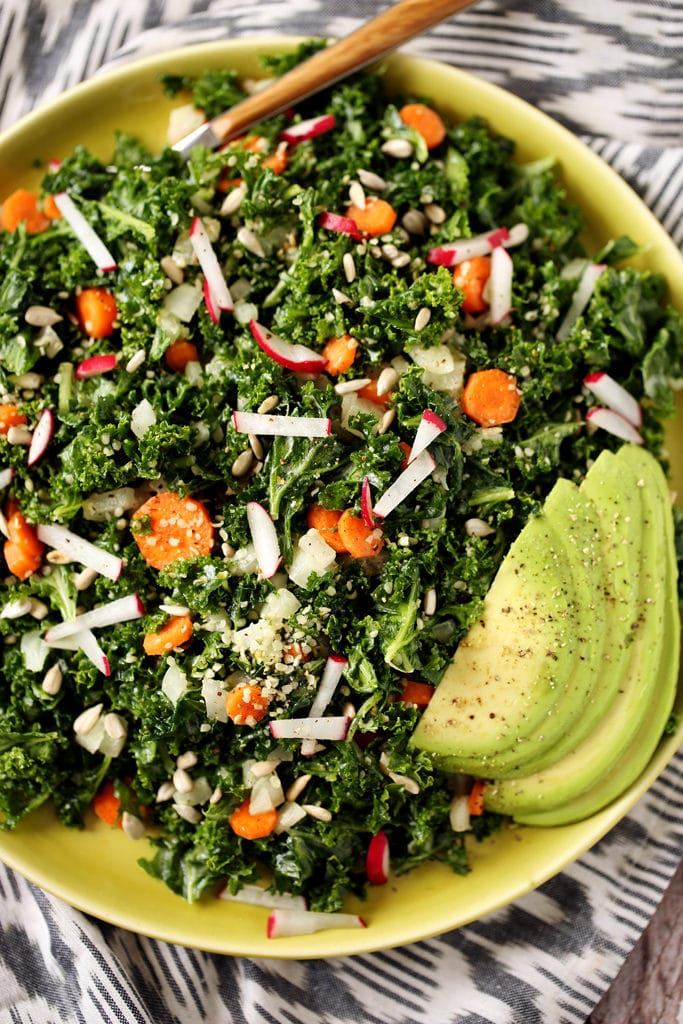 5-Step Raw Kale Salad fromKathy Patalsky's Happy Healthy Vegan Kitchen