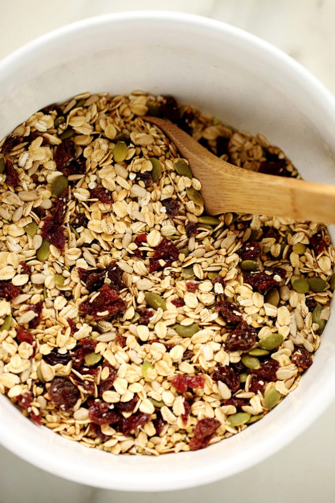 Dried Cherry, Sunflower Butter & Buckwheat Granola | Nut-Free, Gluten-Free, Vegan