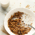Dried Cherry, Sunflower Butter & Buckwheat Granola (Nut-Free, Gluten-Free, Vegan)