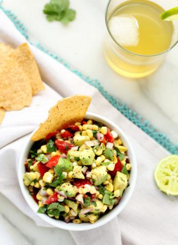 Sweet and Smoky Poblano, Corn + Avocado Salsa