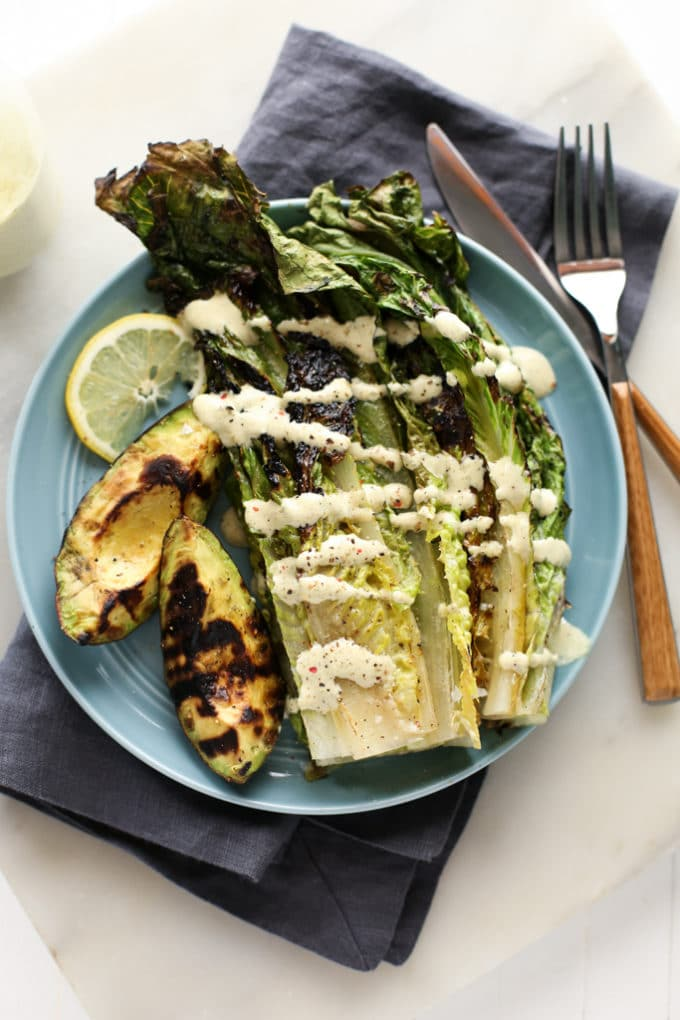 Grilled Avocado and Romaine Caesar Salad-10