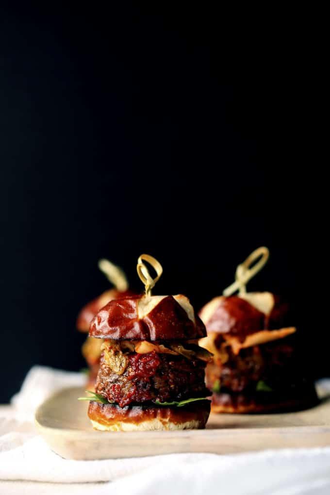 Vegan Simple Korean Kimchi BBQ Burgers
