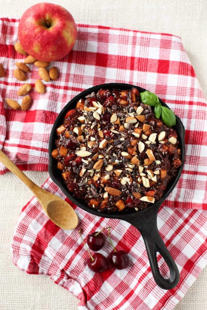 Raw Cherry Pie Breakfast Bowl | vegan, gluten-free, grain-free