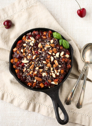 Raw Cherry Pie Breakfast Bowl | vegan, gluten-free, grain-free