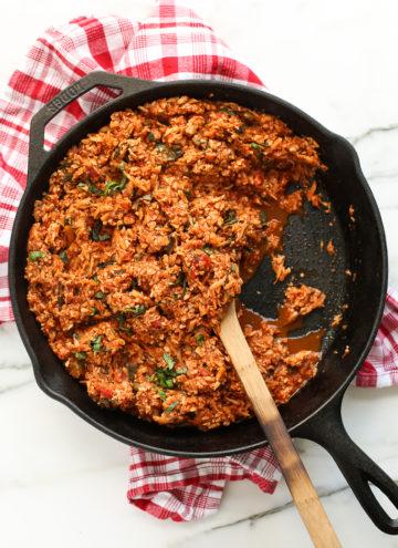 Vegan Italian-Style Cauliflower Rice