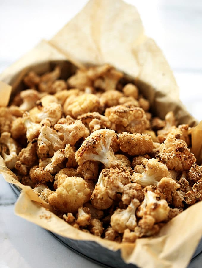 "Crispy Sea Salt & Vinegar Cauliflower ""Popcorn"""