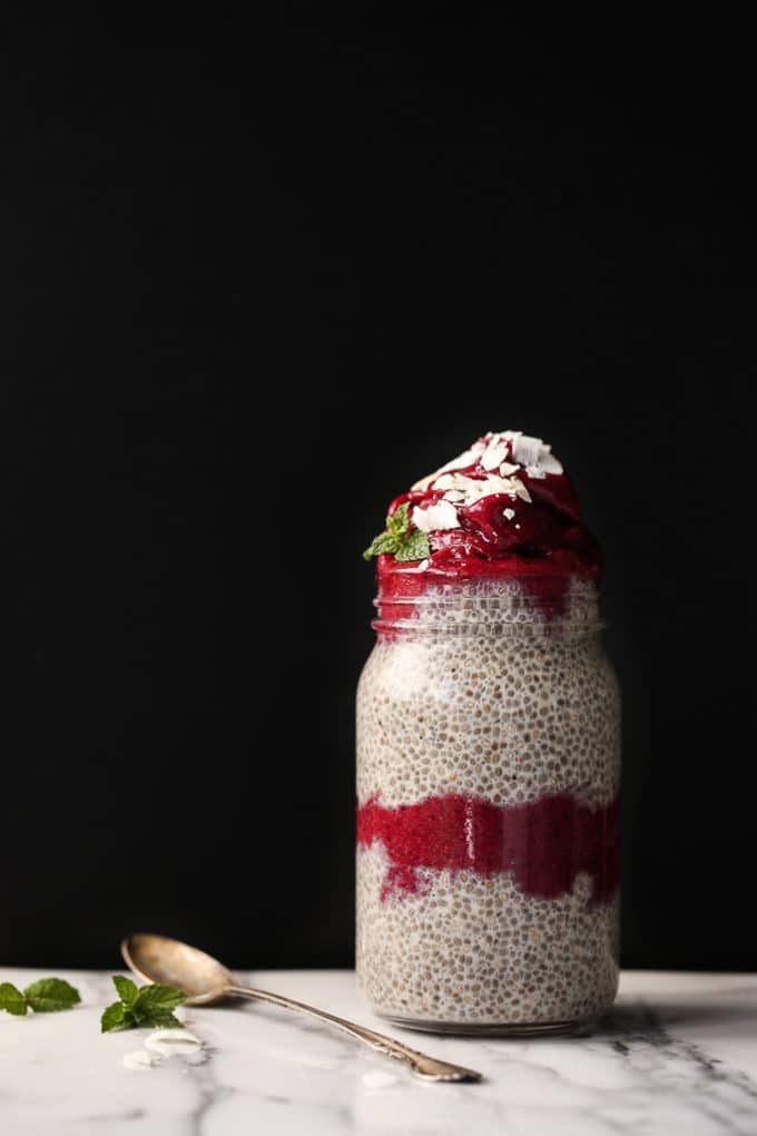 Berry Soft Serve & Vanilla Chia Pudding Parfait